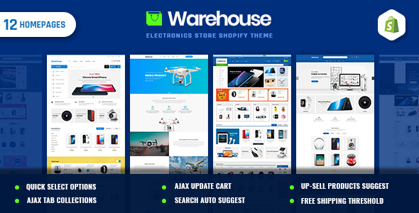 Warehouse | Electronics & Multi-Purpose Shopify Theme