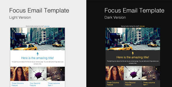 Focus email template campaign monitor versions by for Www campaignmonitor com templates