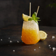 cocktail with crushed ice, lemon and mint - PhotoDune Item for Sale