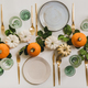 Fall table setting for celebration Autumn holiday with pumpkins - PhotoDune Item for Sale