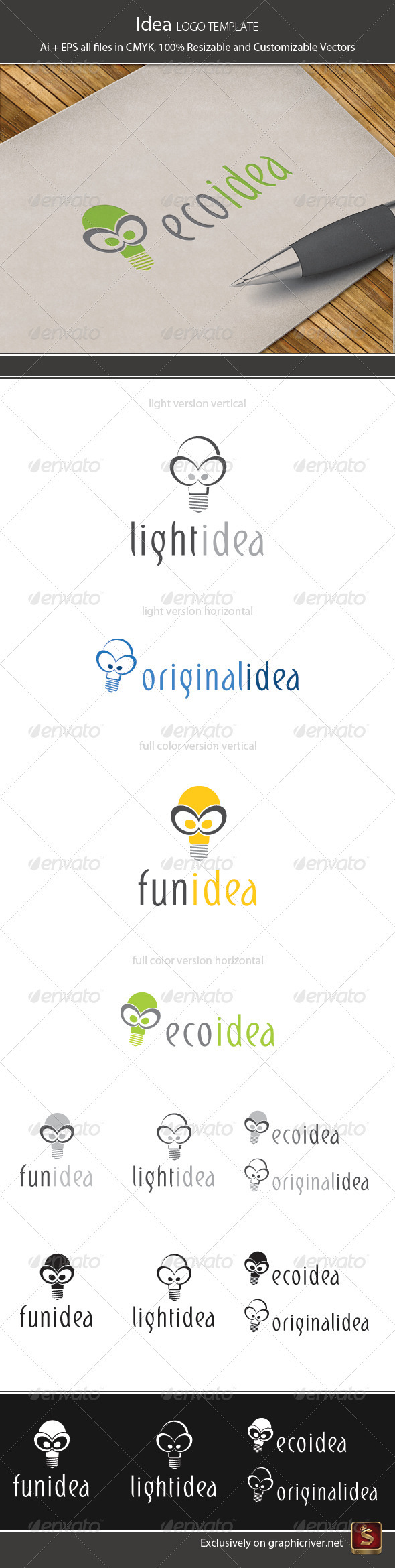Idea Logo Template - Vector Abstract