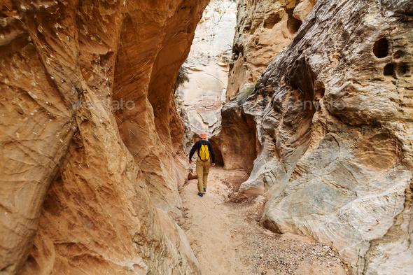 Slot canyon - Stock Photo - Images