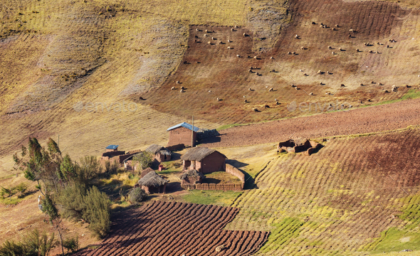 Village in Bolivia - Stock Photo - Images