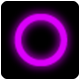 HTML5 Neon Circle Pong Game - Phaser