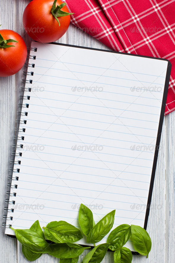 blank recipe book - Stock Photo - Images