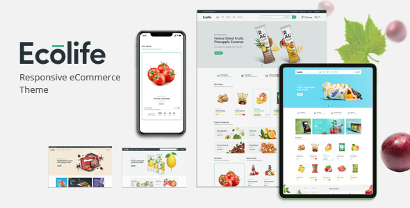 Ecolife – Organic, Food, Cosmetic & Multipurpose Magento 2 Theme