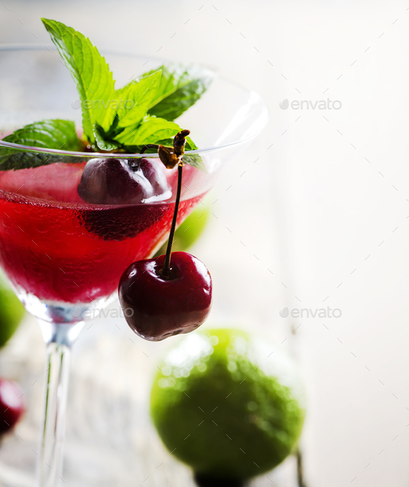 Cherry cocktail - Stock Photo - Images
