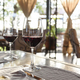 Wine glasses on restaurant table - PhotoDune Item for Sale