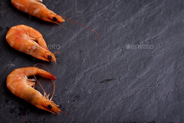 Fresh shrimps - Stock Photo - Images
