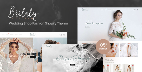 Brilaly – Wedding Shop Fashion Responsive Shopify Theme