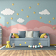 Colorful children room with sofa bed - PhotoDune Item for Sale