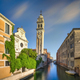 Venice sunset in San Giorgio dei Greci canal and church. Italy - PhotoDune Item for Sale