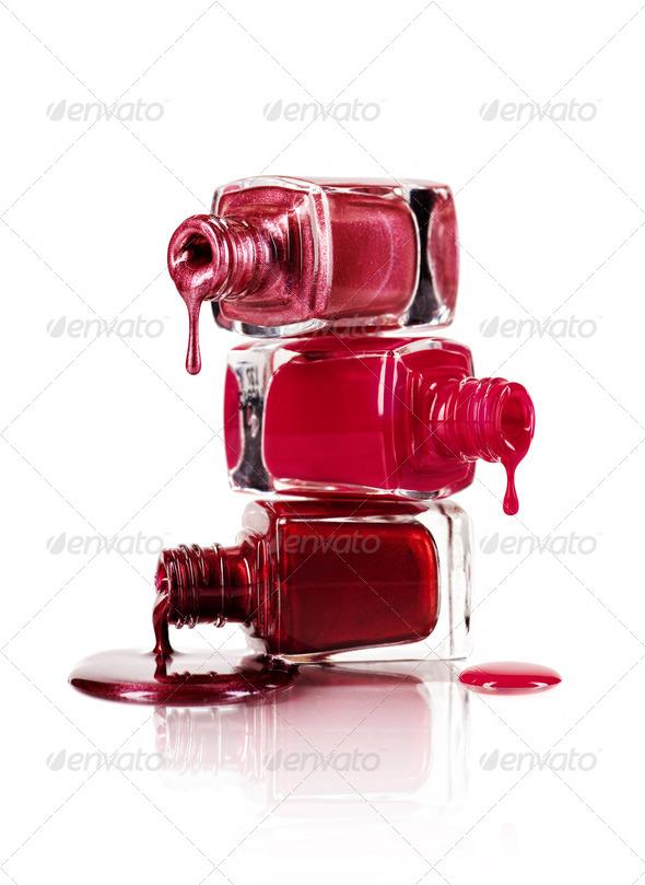 Dripping nail polish - Stock Photo - Images
