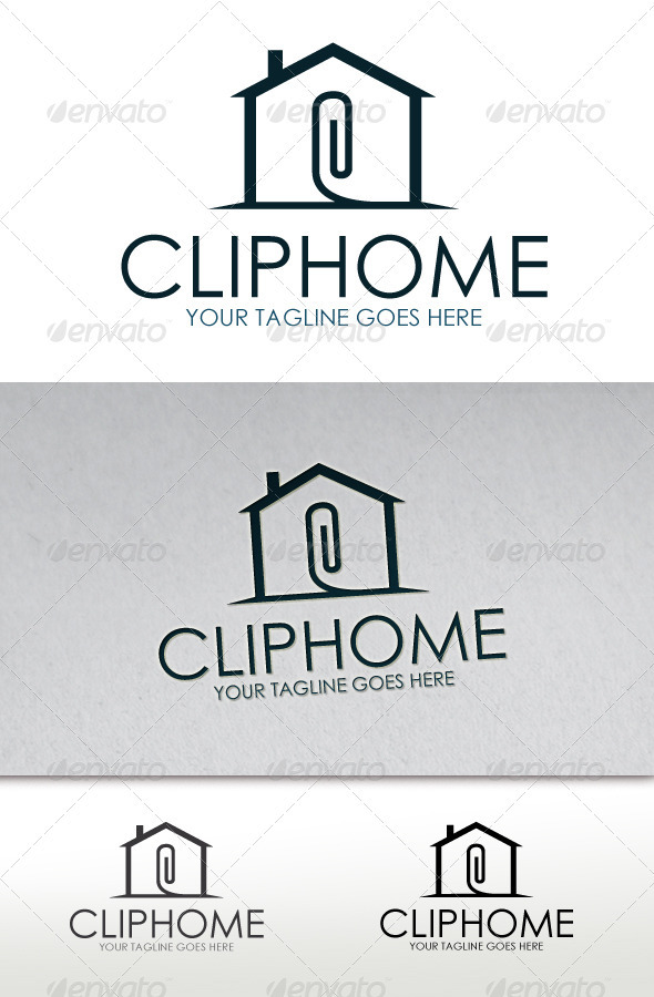 Clip Home Logo - Buildings Logo Templates
