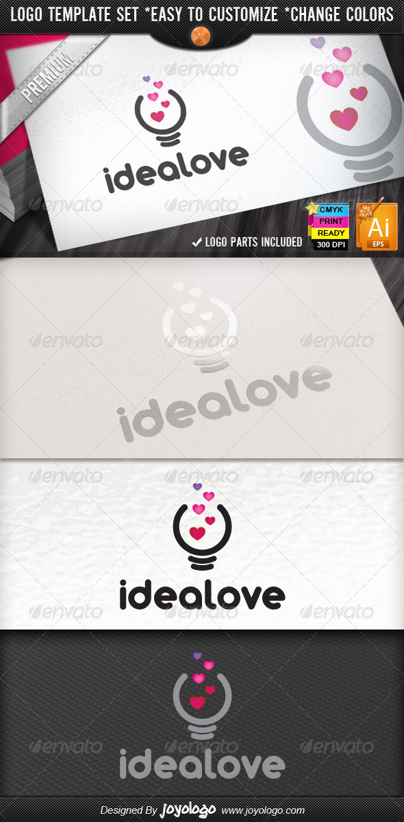 Fresh Bright Think Love Creative Idea Logo Design - Symbols Logo Templates
