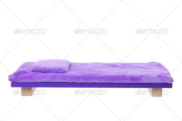 Miniature Wooden Bed - Stock Photo - Images