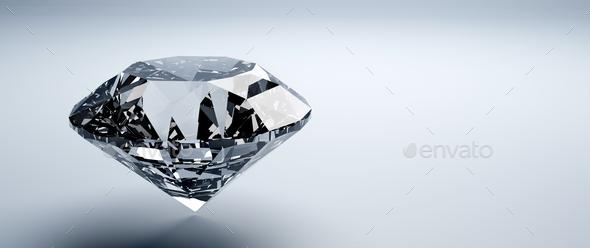 Brilliant cut diamond, precious gem jewelry - Stock Photo - Images