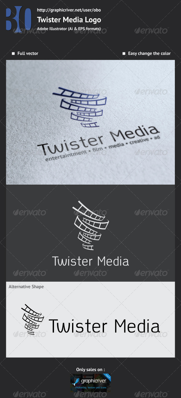 Twister Media Logo - Logo Templates