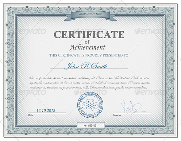 Detailed certificate by ryabinina | GraphicRiver