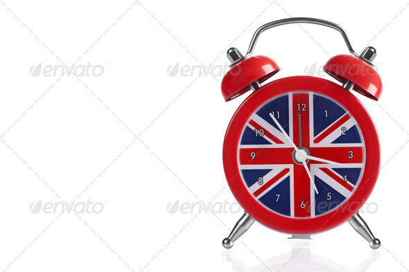 British Flag Clock - Stock Photo - Images