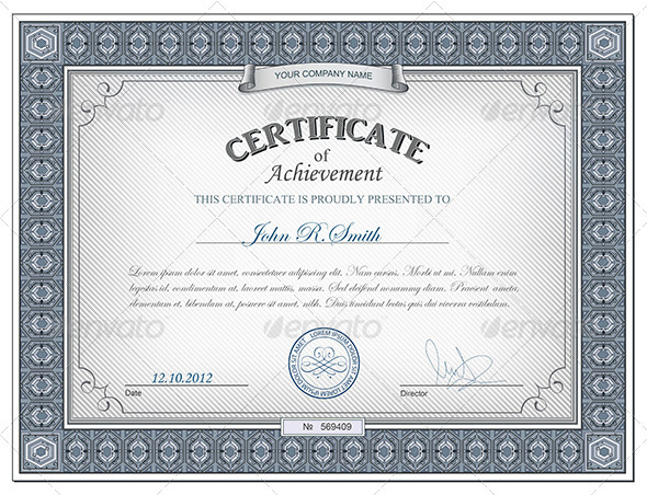 detailed certificate retro technology