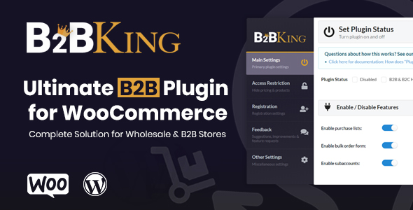 B2BKing - The Ultimate WooCommerce B2B & Wholesale Plugin Nulled
