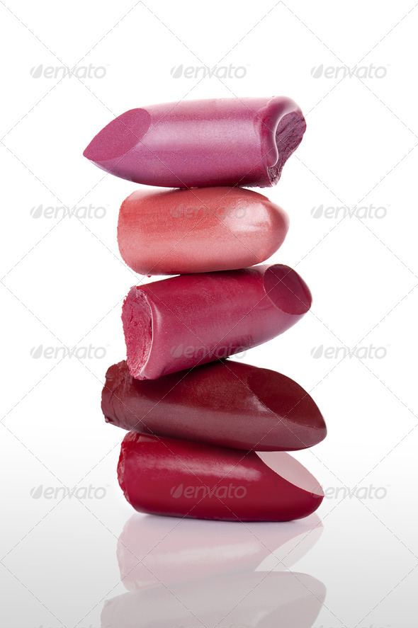Pile of lipsticks - Stock Photo - Images