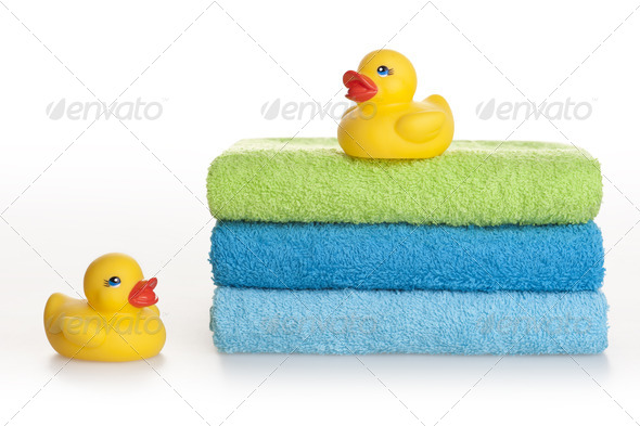 Two rubber ducks - Stock Photo - Images