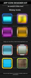 Layout glossy icons.  thumbnail