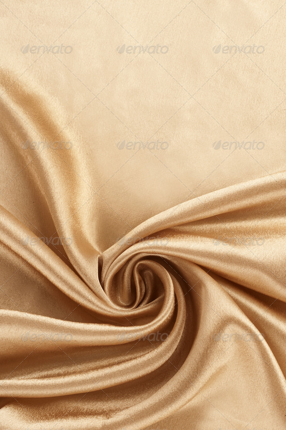 Gold satin background - Stock Photo - Images