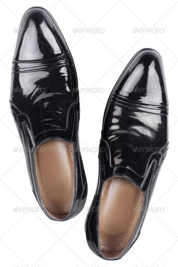 Elegant shiny black shoes - Stock Photo - Images