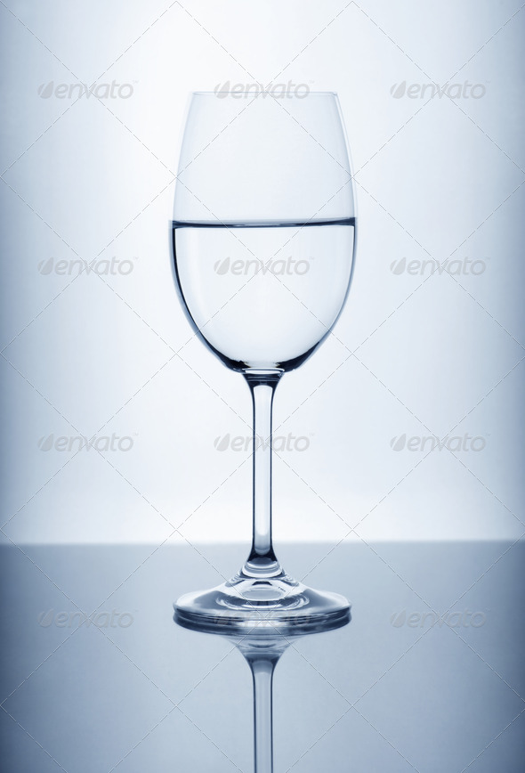 Wine glass on the light background - Stock Photo - Images