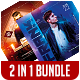 DJ Party Flyer Bundle 2 in 1