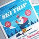 Winter Ski Trip Flyer