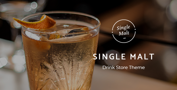 SingleMalt - Drink Store Theme