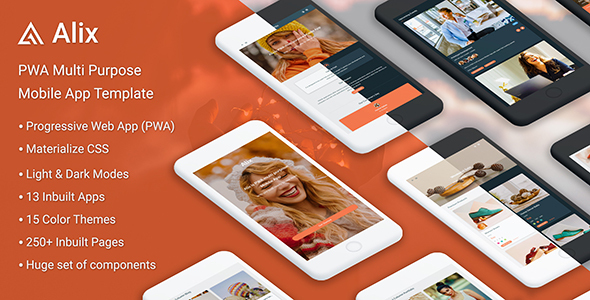Alix: Multi Purpose PWA Mobile App Template