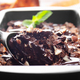 Chocolate icecream in metal tray with mint leaf and almond nuts - PhotoDune Item for Sale