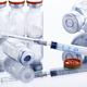 Powdered drug in vial as vaccine dose flu shot - PhotoDune Item for Sale