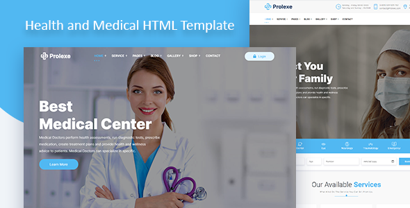 Prolexe – Health and Medical HTML Template