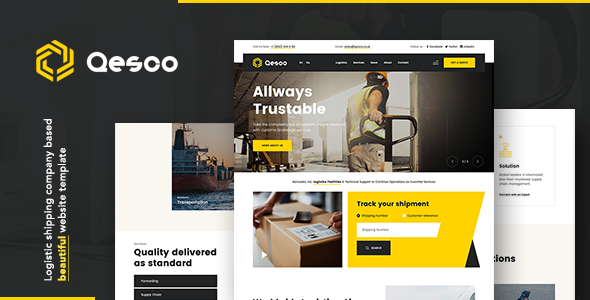 Qesco | Logistic Shipping Company HTML Template