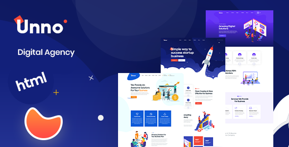 Unno – Startup Agency & Business HTML Template