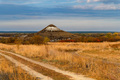 Distant view of chalk butte hill in autumn - PhotoDune Item for Sale