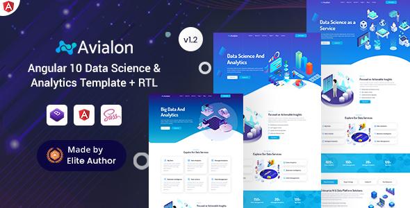 Avialon - Angular 10+ Big Data & Analytics