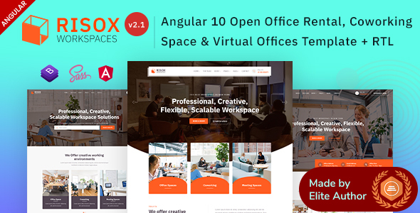 Risox - Angular 10+ Office & Commercial Space