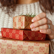 Young woman with Gift boxes in hands close up - PhotoDune Item for Sale