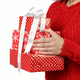 Young woman holding Gift boxes in hands close up - PhotoDune Item for Sale