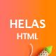 Helas – Multipurpose Minimal HTML Template