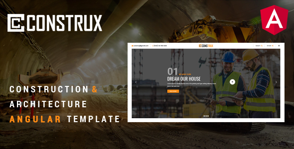 Construx – Construction & Building Angular Template