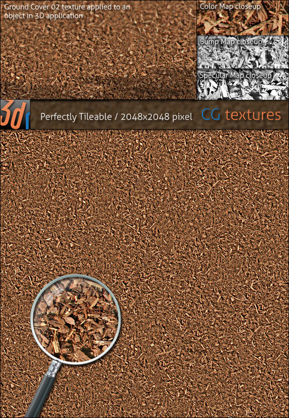 Ground Cover Hi Res Texture 02 Wood Bark Mulch By