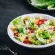 Caesar Pasta Salad with avocado, croutons and tomatoes - PhotoDune Item for Sale